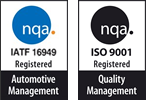 IATF 16949 Registered, ISO 9001 Registered